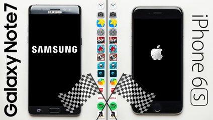 Показали відеопорівняння швидкості Galaxy Note 7 та iPhone 6S - фото 1