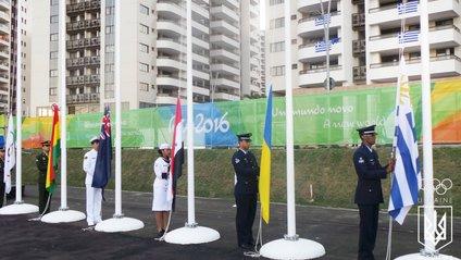 В Олімпійському селищі Ріо замайорів український прапор - фото 1