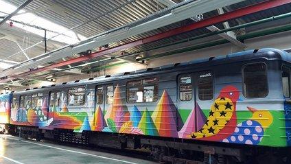 У київському метро курсуватиме арт-поїзд з муралом - фото 1
