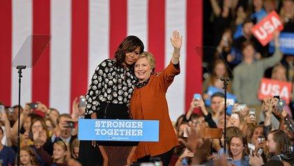 Мішель Обама та Гілларі Клінтон - фото 1