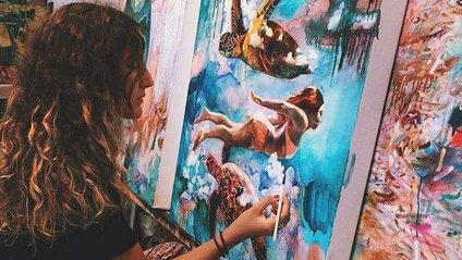 16-річна художниця малює заворожуючі картини - фото 1