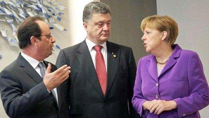 Франсуа Олланд, Петро Порошенко а Ангела Меркель - фото 1