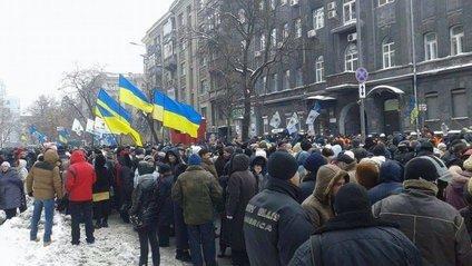 Протестувальники знову зібрались у Києві - фото 1
