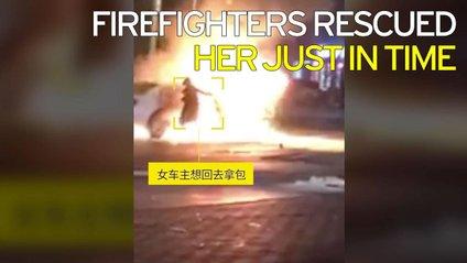 """Стильна китаянка """"рятувала"""" дизайнерську сумку з палаючого авто - фото 1"""
