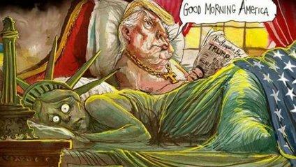 Карикатури на Трампа стали хітом соцмереж - фото 1