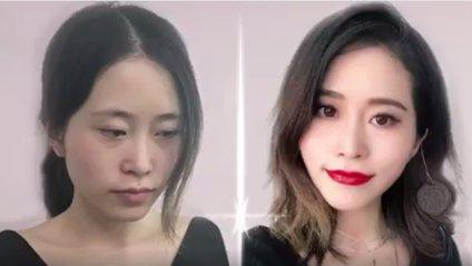 Пір'я та яйце: китаянка робить макіяж за допомогою підручних засобів - фото 1
