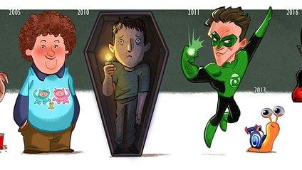 Еволюція знаменитостей: круті карикатури від Джеффа Віктора - фото 1