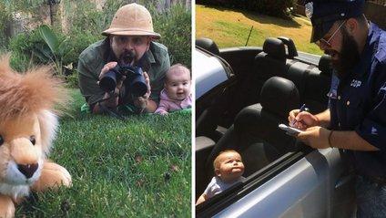 Татусь з 9-місячною донькою підкорюють мережу: кумедні фото - фото 1