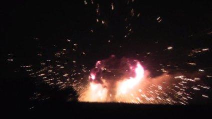 Калинівка: ось так виглядає пожежа на складі боєприпасів - фото 1