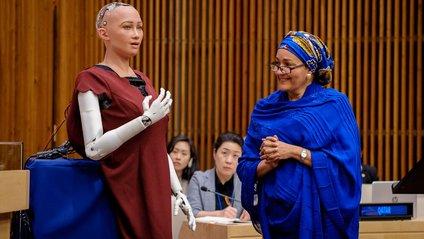 Робот Софія виступила в ООН - фото 1
