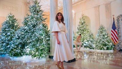Меланія Трамп показала, як Білий дім прикрасили до Різдва - фото 1