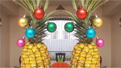 Замість ялинки люди прикрашають іграшками ананаси - фото 1