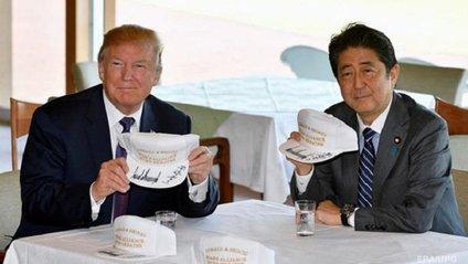 Трамп веселиться в Японії - фото 1