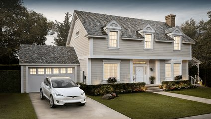"""Tesla почала серійний випуск """"сонячних дахів"""" Solar Roof - фото 1"""