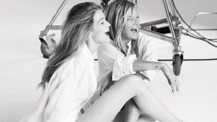Кейт Мосс і Джіджі Хадід знялися в ефектній фотосесії - фото 1