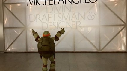 Як черепашка-ніндзя Мікеланджело сходив у музей до Мікеланджело - фото 1