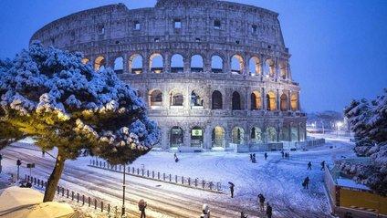 Рим раптово засипало снігом: казкові фото - фото 1