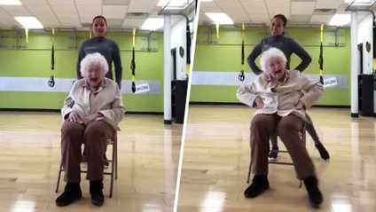 Тренування 93-річної бабусі підкорили мережу - фото 1