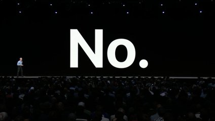 """Apple показали на екрані великими літерами слово """"Ні"""" - фото 1"""