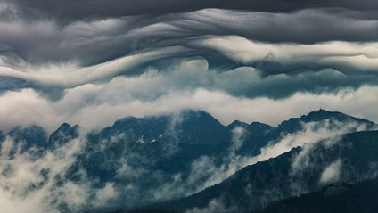 Хмари наче гори: фотограф показав незвичайну красу у Татрах - фото 1