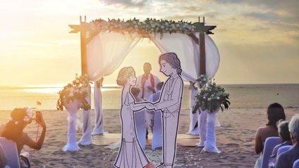 Закохані здивували незвичайною весільною зйомкою: чарівні кадри - фото 1