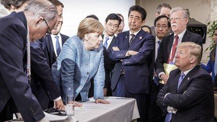 Трамп розказав правду про знімок з Меркель, який став мемом - фото 1