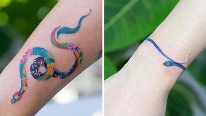 Художниця з Кореї створює незвичайні тату з чарівними зміями - фото 1