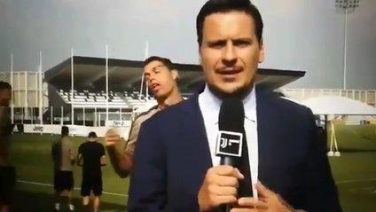 Репортер португальського футболіста не помітив - фото 1
