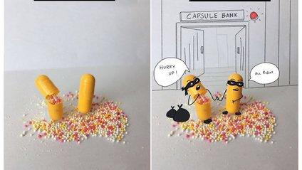 Веселі ілюстрації з пігулками - фото 1