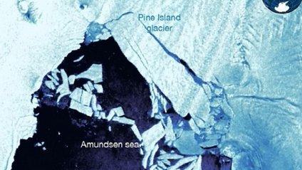 Айсберг відколовся від льодовика - фото 1