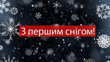З першим снігом вас! - фото 1