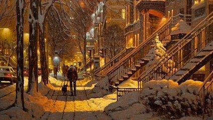 Зимові міста у роботах Річарда Савойа - фото 1