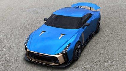 В обробці салону Nissan GT-R50 поєднуються шкіра і карбон - фото 1