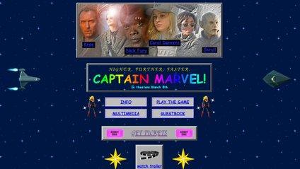 """Промо-сайт для фільму """"Капітан Марвел"""" - фото 1"""
