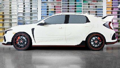 Honda Civic Type R, у повний розмір, збудували з Lego - фото 1