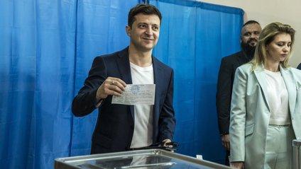 Володимир Зеленський на виборах - фото 1