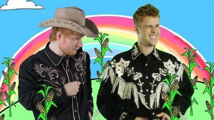 Ed Sheeran & Justin Bieber - I Don't Care, дивитись кліп онлайн - фото 1