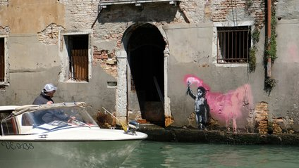 Робота Бенксі з'явилася у Венеції - фото 1