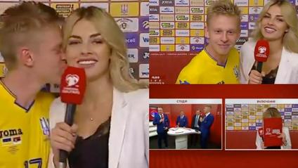 Зінченко поцілував журналістку в прямому ефірі - фото 1