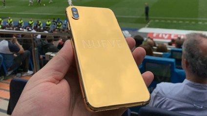 iPhone XS Max з золотою панеллю - фото 1