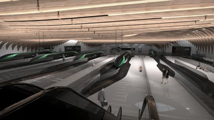 Як виглядатиме станція Hyperloop - фото 1