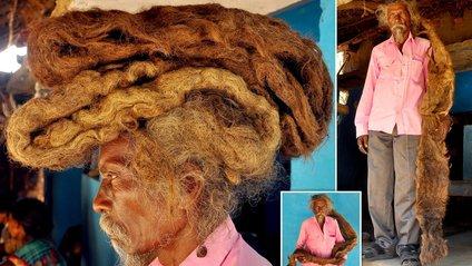 До 63 років Сакал Дев Тудду відростив аномально довге волосся - фото 1