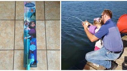 Дівчинка спіймала рибу на дитячу вудку - фото 1