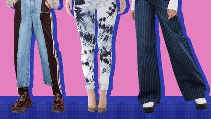 Двоколірні джинси - фото 1