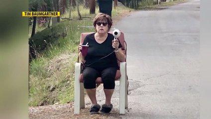 Американка за допомогою фена бореться зі швидкою їздою: курйозне відео - фото 1