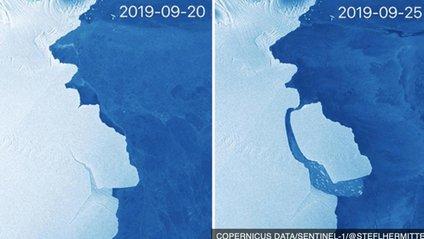 Від Антарктиди відколовся айсберг - фото 1