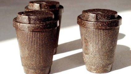 Чашки зроблені з кавових відходів - фото 1
