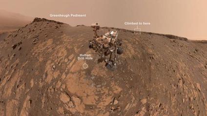 Селфі марсоходу Curiosity - фото 1