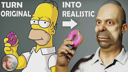 Перетворення мультяшного Гомера в реального - фото 1