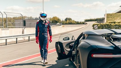 Потужний Bugatti зняли на відео під час тесту - фото 1